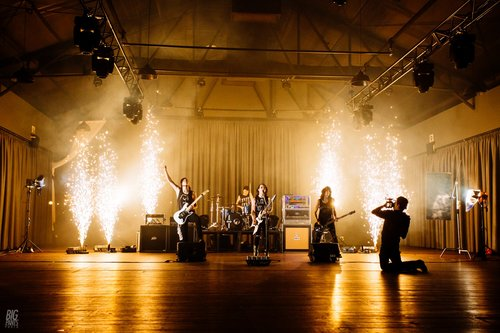 Indoor Fireworks for Music Video Shoot - Blaso Pyrotechnics, Melbourne, Australia