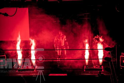 Indoor Fireworks Red Flame Projectors for Wrestlers Entrance MCW - Blaso Pyrotechnics, Melbourne, Australia