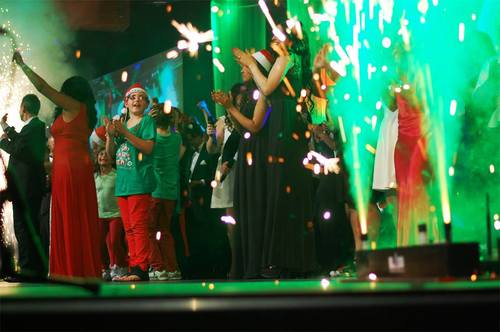 Indoor Fireworks for Christmas Carols at Enjoy Church - Blaso Pyrotechnics, Melbourne, Australia