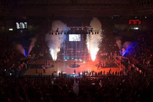 Indoor Fireworks Basketball Pre Game Entertainment - Blaso Pyrotechnics, Melbourne, Australia