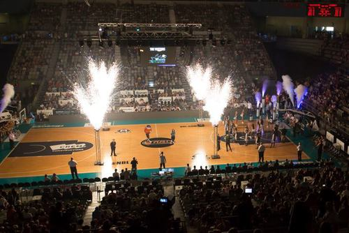 Copy of Indoor Fireworks Basketball Pre Game Entertainment - Blaso Pyrotechnics, Melbourne, Australia