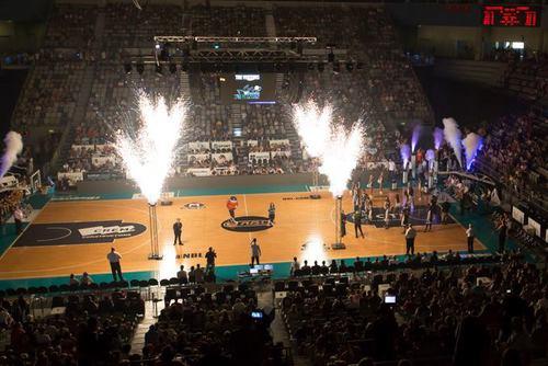 Indoor Fireworks Basketball Pre Game Entertainment - Blaso Pyrotechnics, Melbourne, Australia