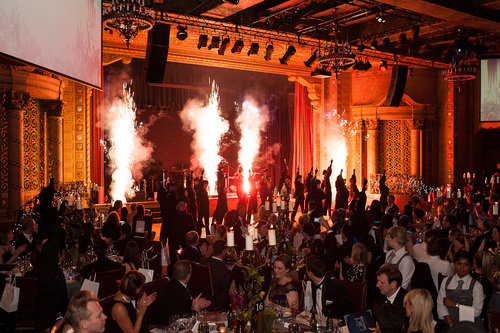 Indoor Fireworks fired as finale to performance - Blaso Pyrotechnics, Melbourne, Australia