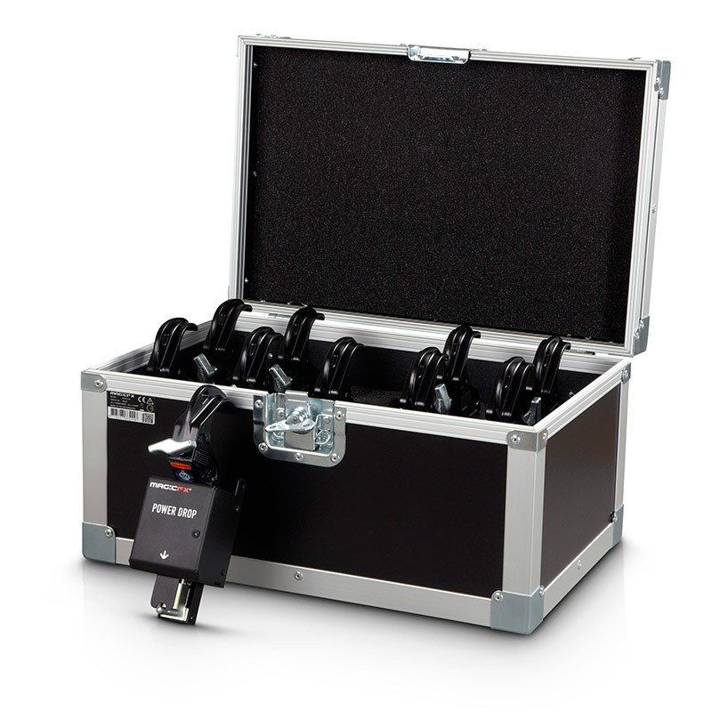 Powerdrop Kabuki Set of 10 with Curtain Clamps in Roadcase