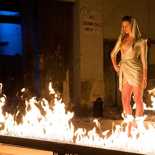 Blaso Pyrotechnics Flame Bars ANTM Shoot