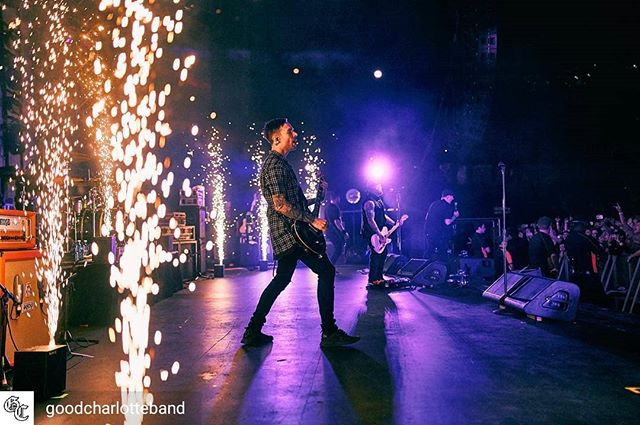 Good Charlotte - AUS Tour 2018. ⚡Spark FX 💀blasopyrotechnics.com.au 🎵@goodcharlotteband 📷@edmasonphoto  When it comes to tours, large scale productions and outdoor events we carry a huge range of Co2 equipment and flame systems, some of the largest confetti and streamer effects available and the very best in on-stage pyro and fx, Blaso Pyrotechnics know the demands of delivering at the highest level.. #blasopyrotechnics #goodcharlotte #spark #lit #pyroilluminati #tour #sfx