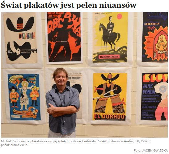 "Joanna Sokolowska-Gwizdka interviews the curator of the APFF 2015 poster exhibit in ""Nowy Dziennik"""
