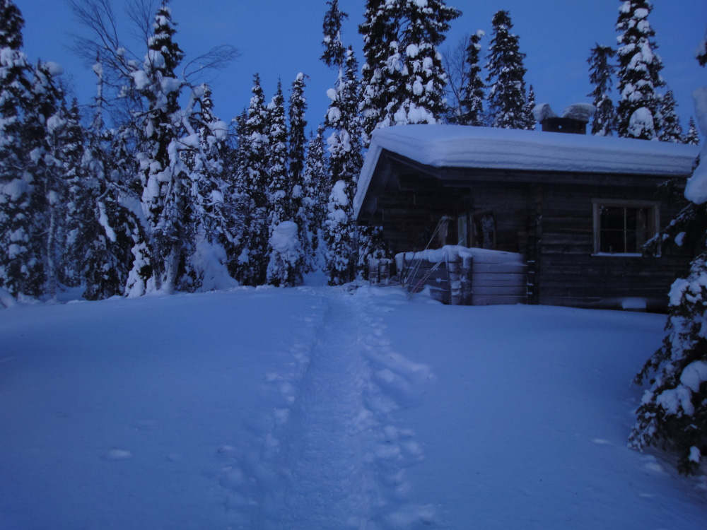 Wilderness cottage Lapland winter retreat