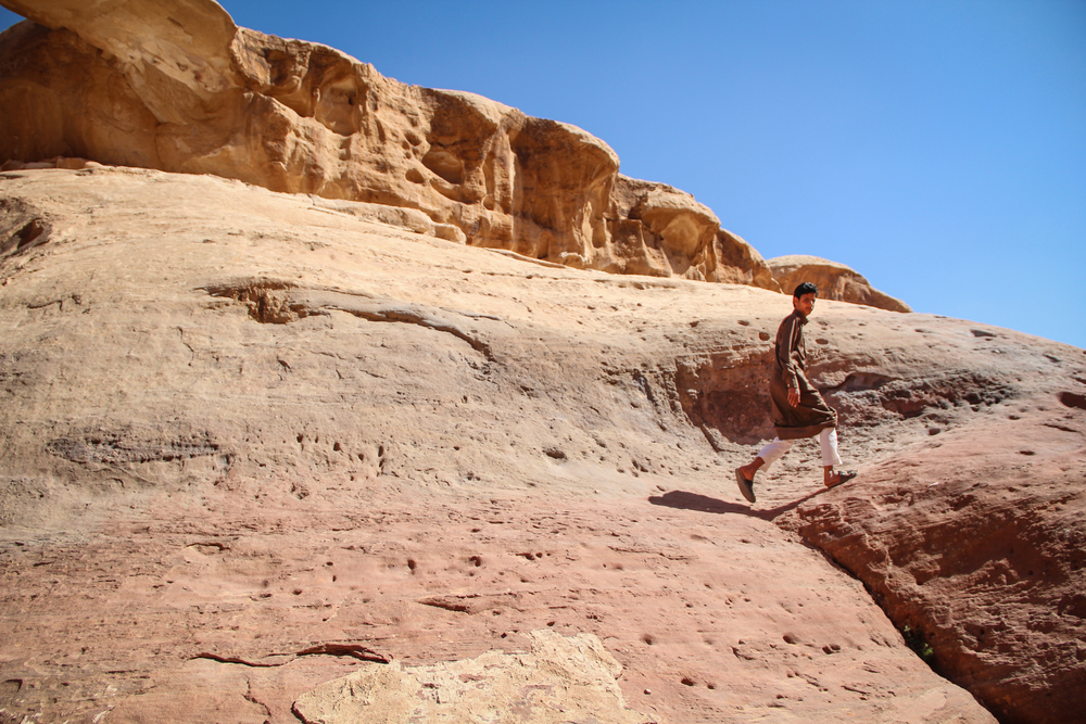 Rashed Zalabi, 19, spends his days showing tourists around Wadi Rum. More on tourism's impact on Jordan's Bedouin population  here .