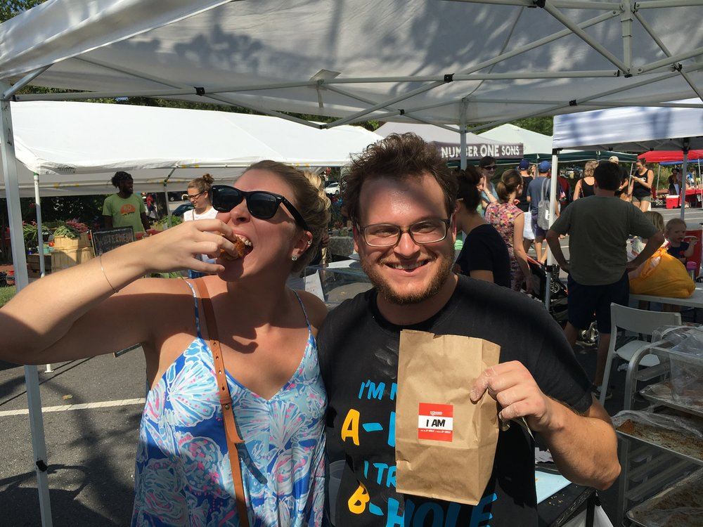Grant Sarvis is up at all hours making sure his B-Holes are delivered fresh to the masses. Here we are together at Petworth Market.