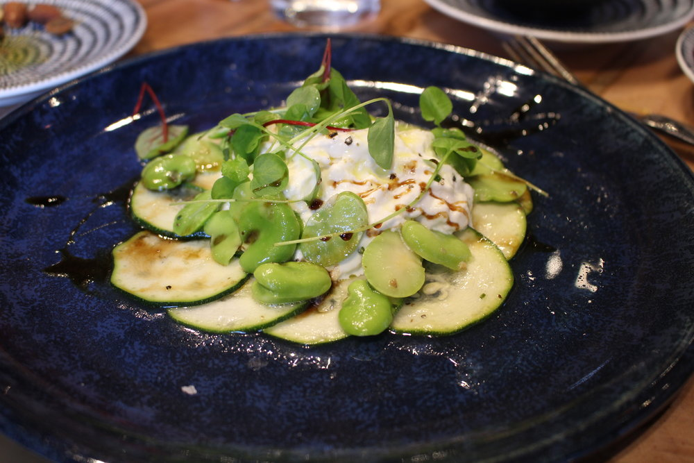 Straciatella salad