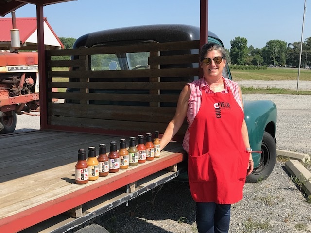"""Connie Caulfield, owner of Caulfield Provision Company, started her own business crafting """"not your usual"""" hot sauce flavors."""