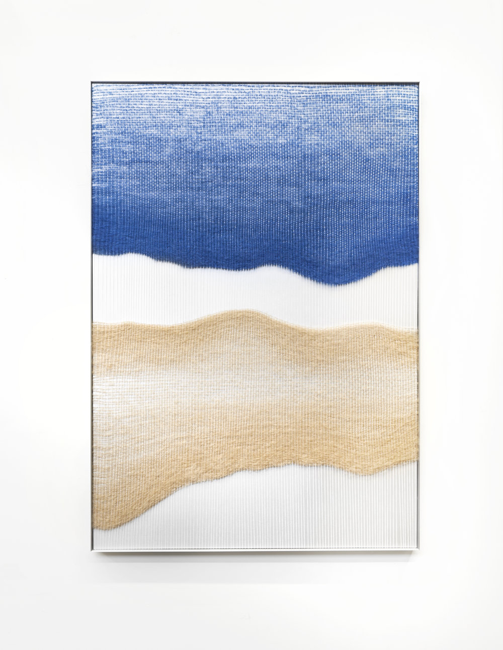 MIMI JUNG - Blue and Tan Live Edge Forms, 2018