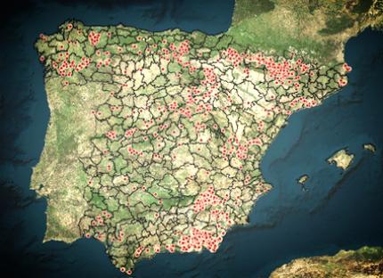 mapa pueblos abandonados españa