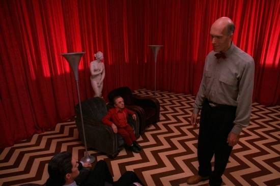 "Just a run of the mill day in The Black Lodge in ""Twin Peaks."""