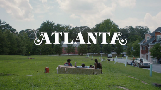 "The boys on THE couch in ""Atlanta."""