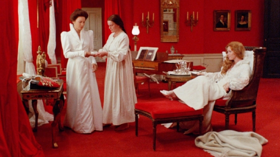 """A shot from Ingmar Bergman's disturbing masterpiece, """"Cries and Whispers."""""""