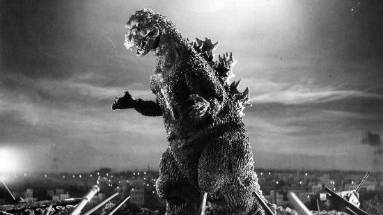 Godzilla tearin' the place up.
