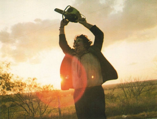 I love the smell of Leatherface in the morning.