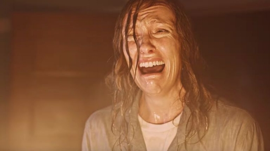 """Toni Colette in """"Hereditary,"""" looking ... a little stressed."""