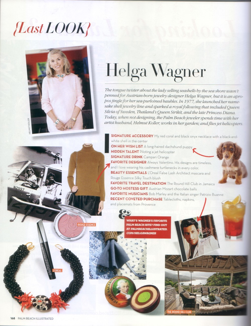 Helga Wagoner feature in Palm Beach Illustrated