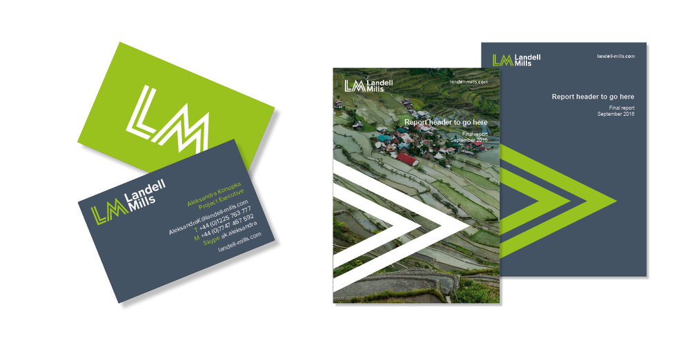 Business cards and report covers