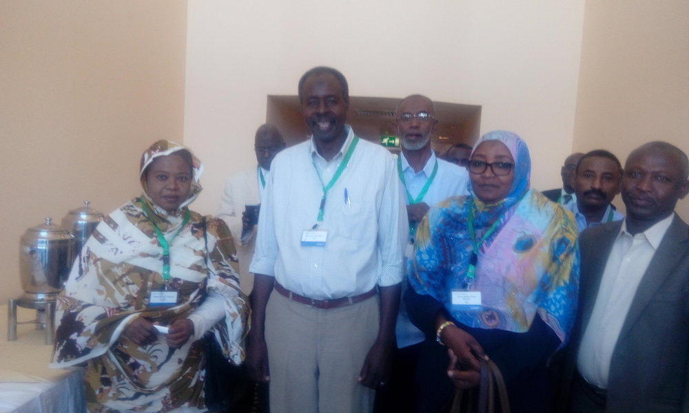 Training participants with the Landell Mills Chief Technical Advisor, Abdul Hamid Rhametalla (on right)