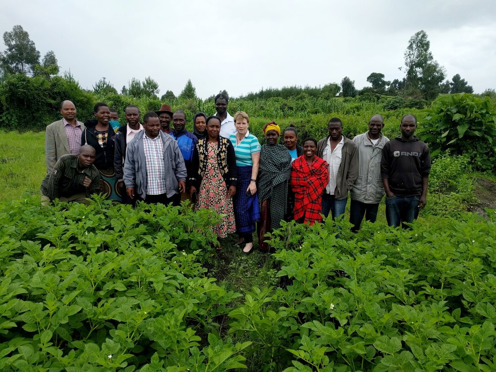 Meeting beneficiary farmers in Tanzania