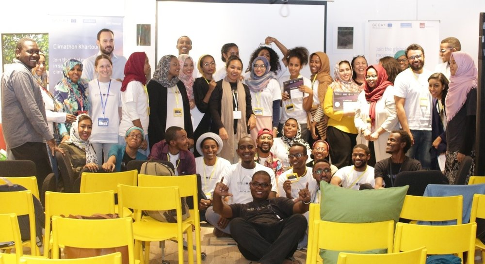 The 24 participants who took part in the Climathon at Impact Hub's workspace. Photo by Daftar Studios.