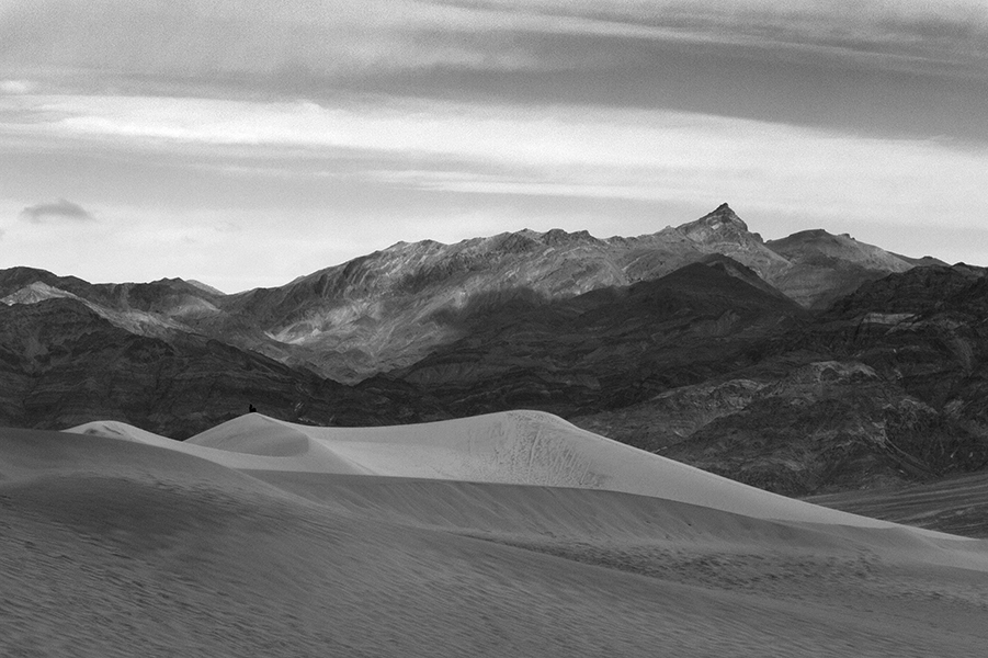 Woman in the Dunes (Death Valley)   copyright 2015 Ted Rhodes
