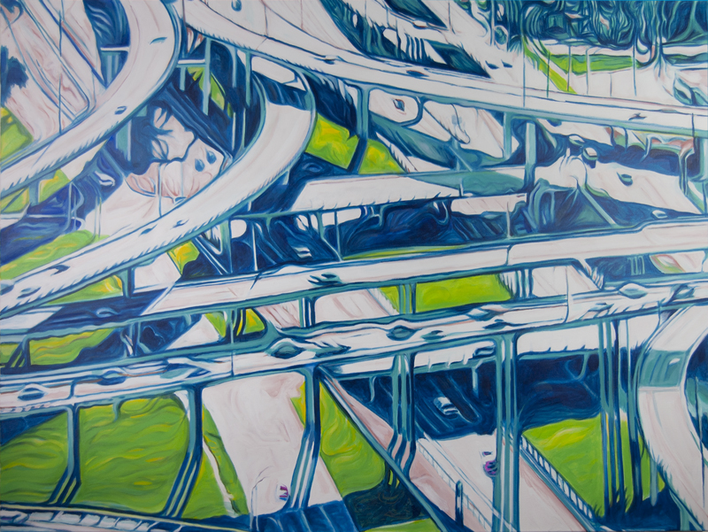 Green Spaces  SOLD  2014 36x48 Acrylic on canvas