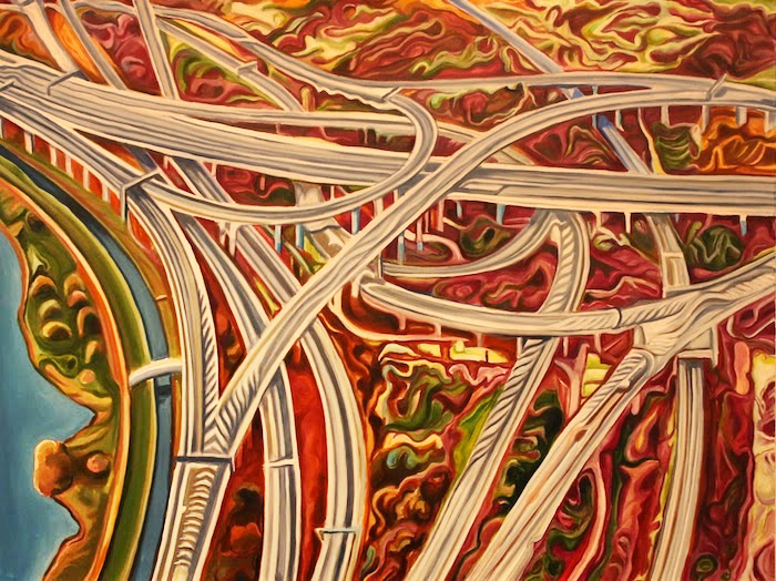 River Interchange 2014 36x48 Acrylic on canvas