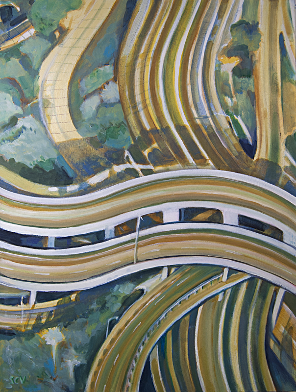 Wavy Overpass 2014 24x18 Oil on canvas