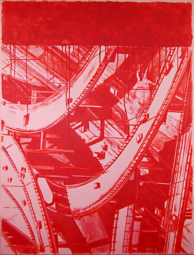 Red Interchange 2011 40x30 Acrylic on canvas