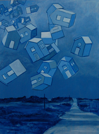 Floating Houses at Night