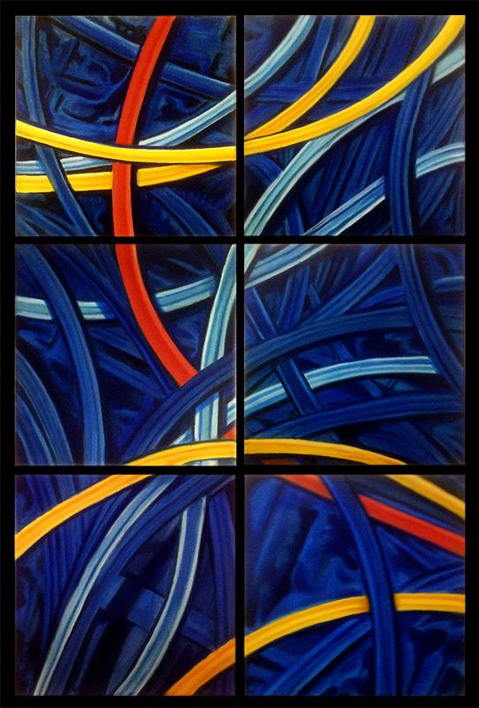 MacArthur I – VI  2014 12x12 Oil on canvas