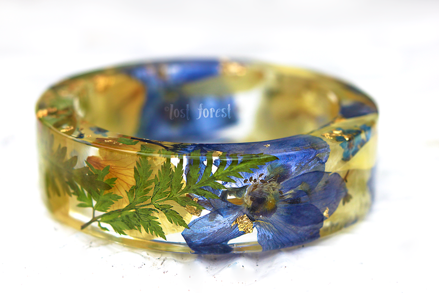 resin flower bangle