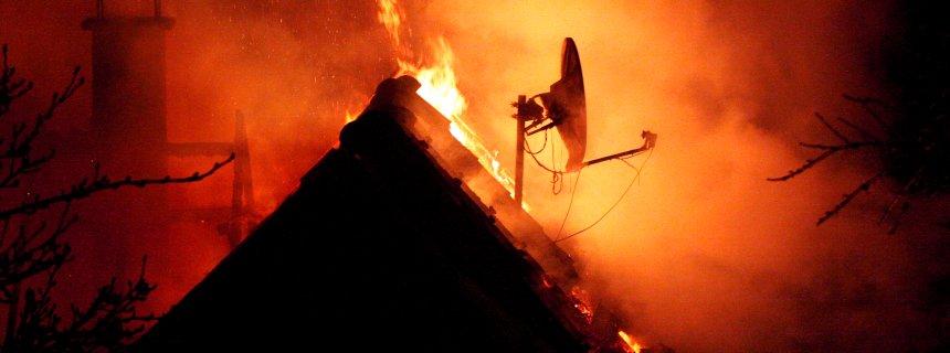 Hausbrand - Styroporwand