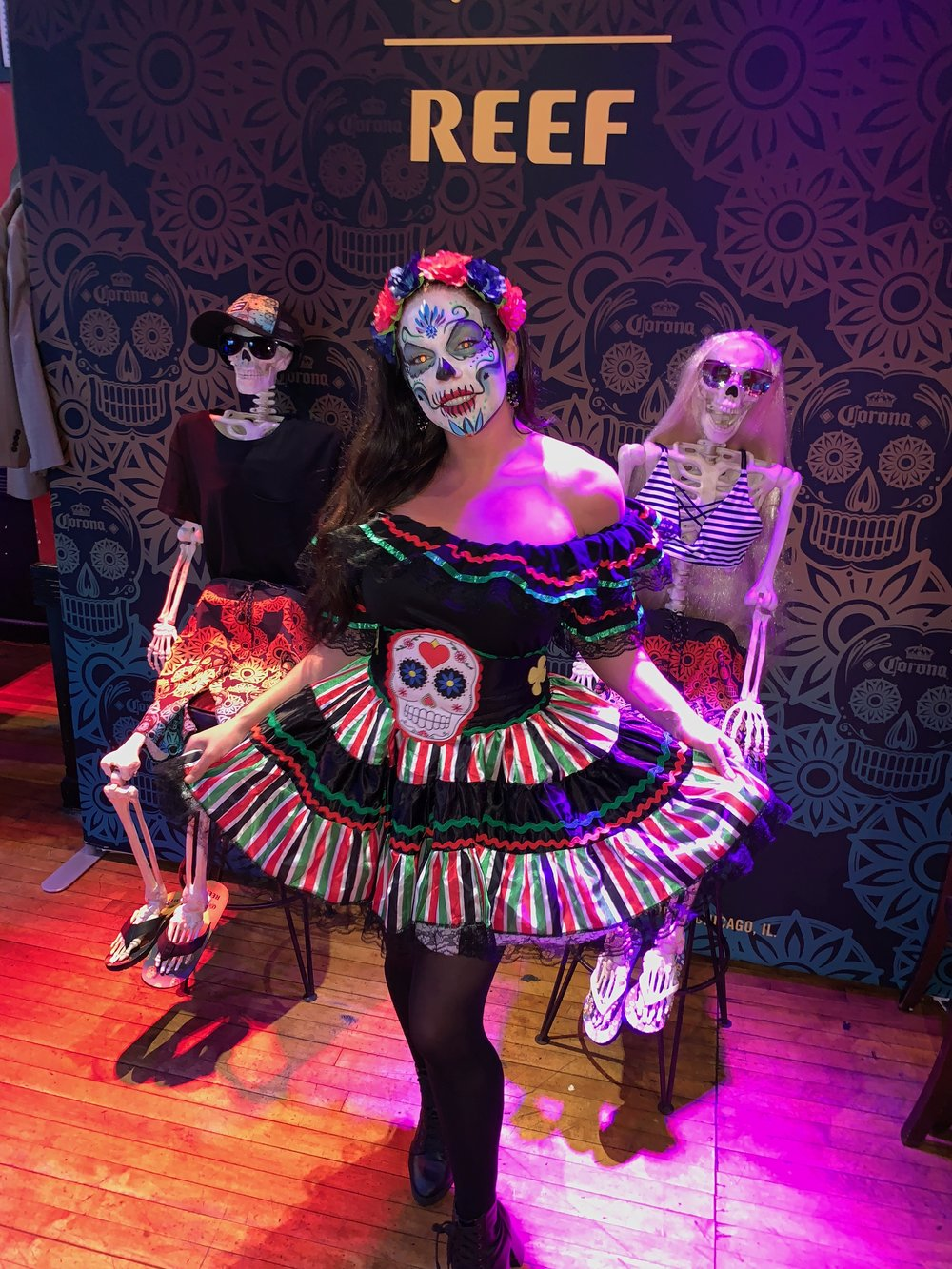 efa95048d38c The Joester Loria Group celebrated Dia de Los Muertos at the Corona x Reef  collaboration launch party at Point Break in New York City last week.