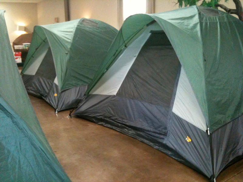 Providing shelter for our community's homeless in Fellowship Hall.