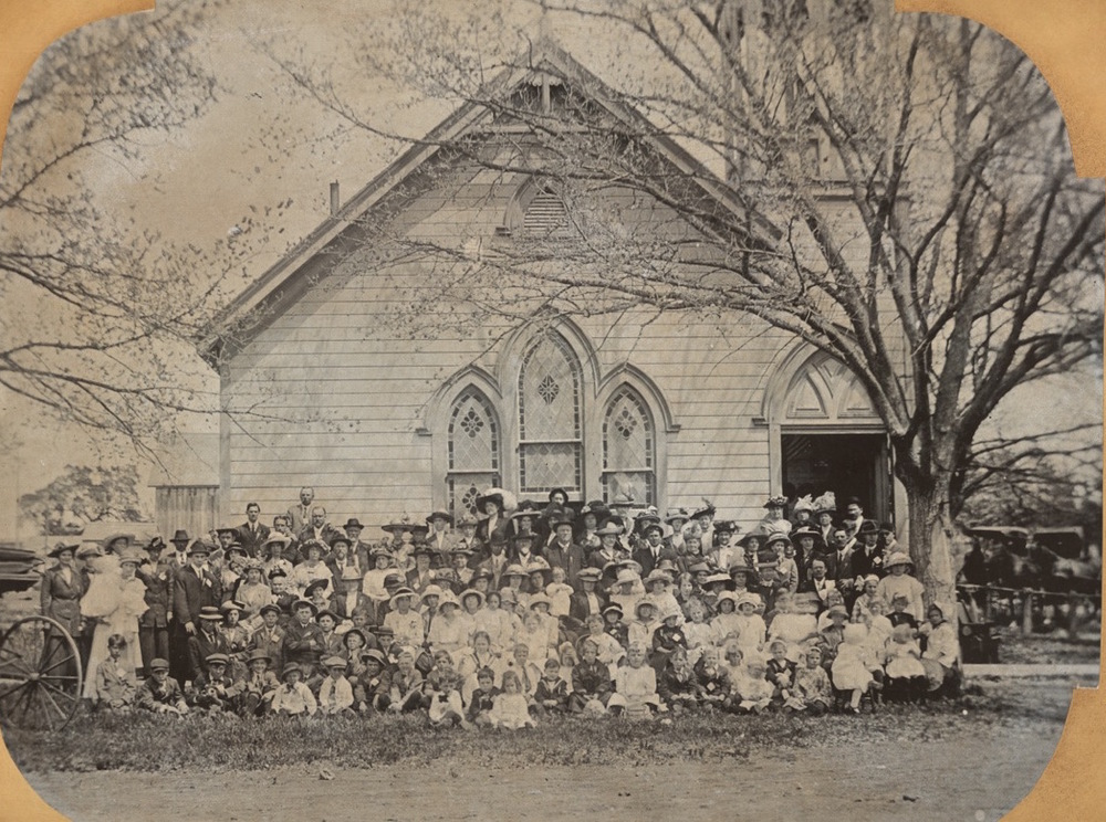 Our original church building around the turn of the century.