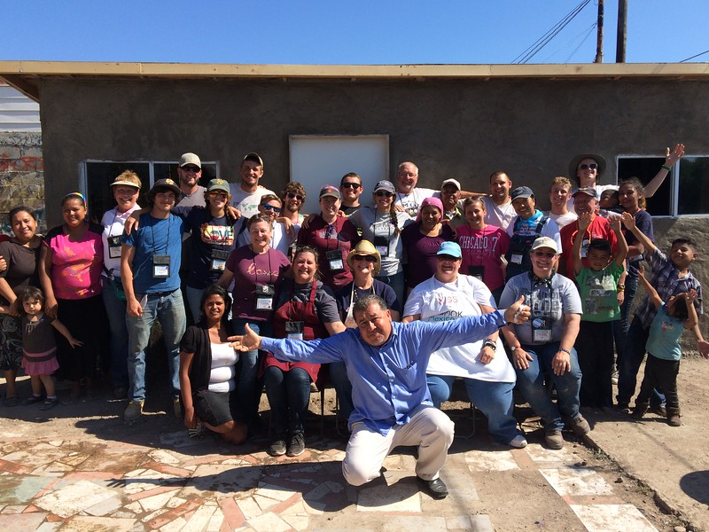Our 2015 Mexico Mission participants and the family we built for.