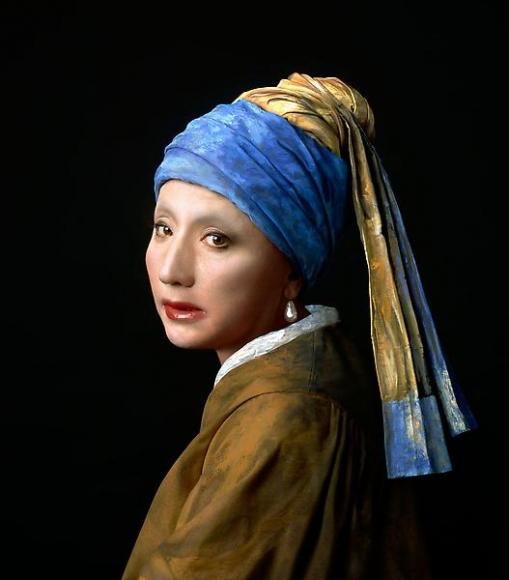 Yasumasa Morimura, Vermeer Study: Looking Back (Mirror  ) , 2008