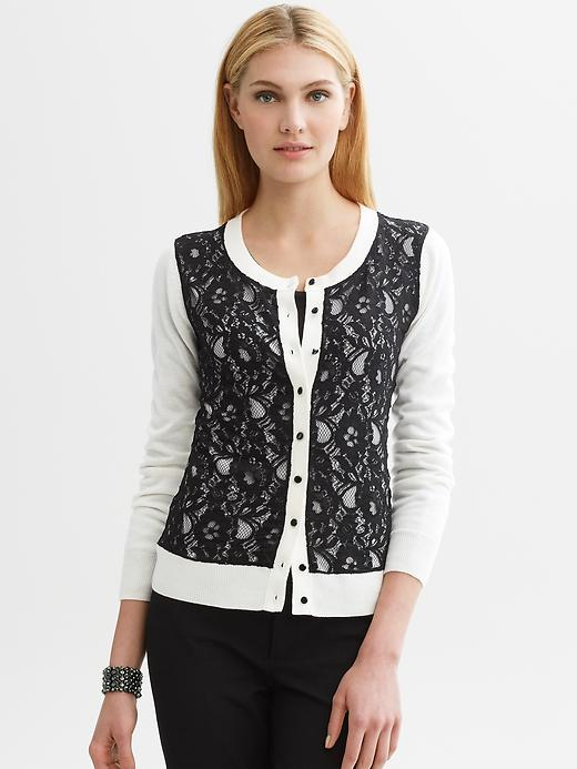 Lace Front Cardigan, Banana Republic
