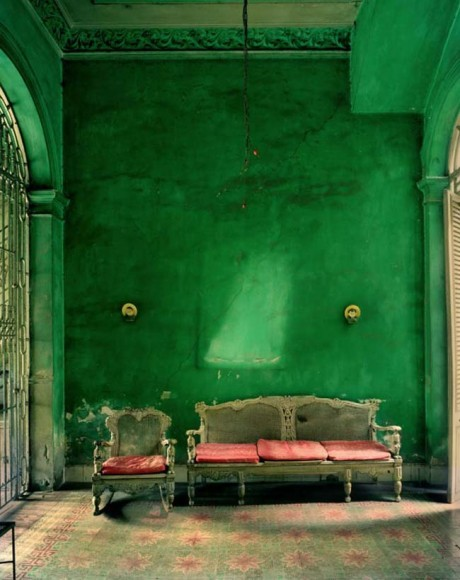 Emerald Walls and Salmon Accents