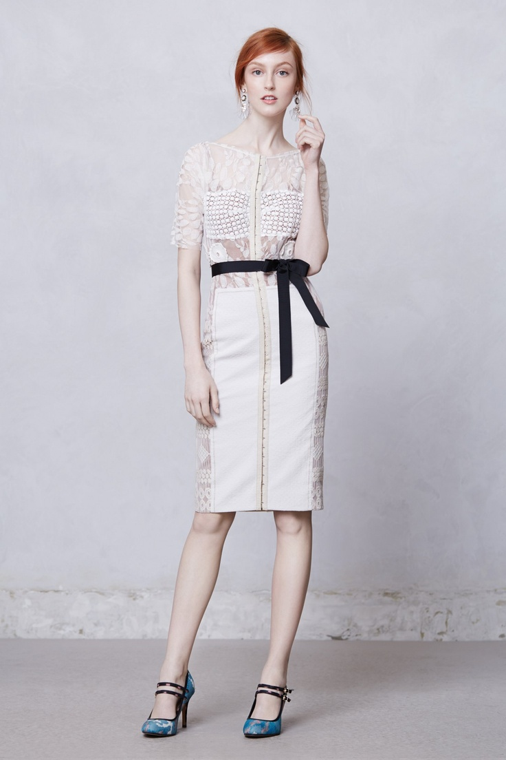 Anthropologie Daisy Lace Sheath