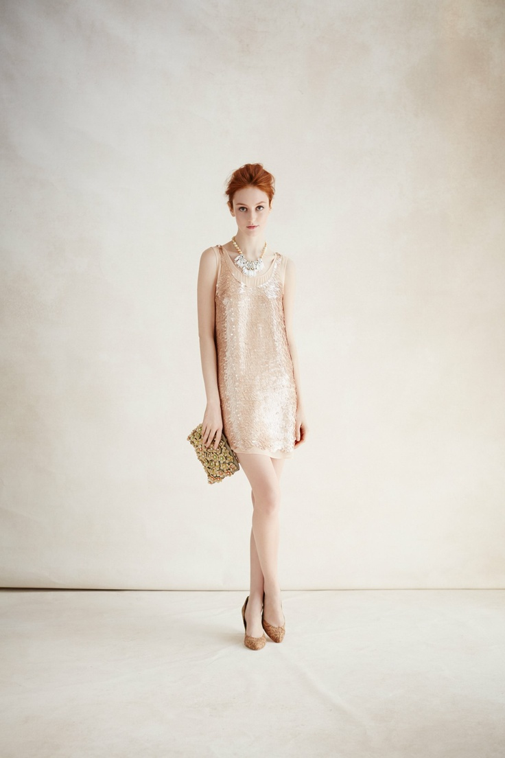 Anthropologie Gatsby Paillettes Dress