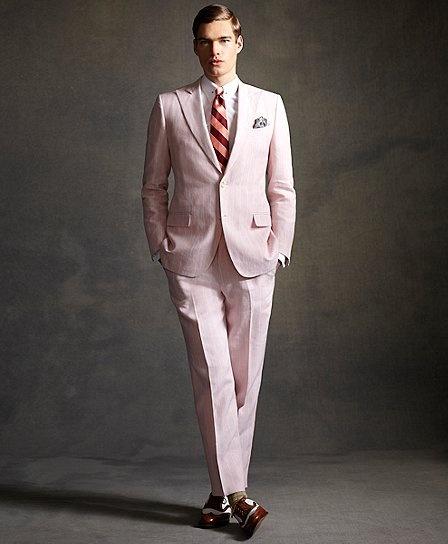 Brooks Brothers Pink Strip Jacket