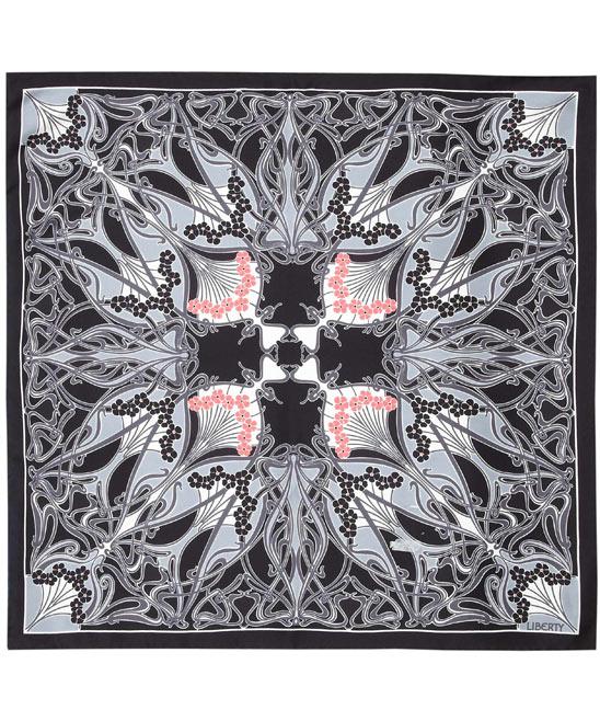 Liberty of London Black Ianthe Print Scarf
