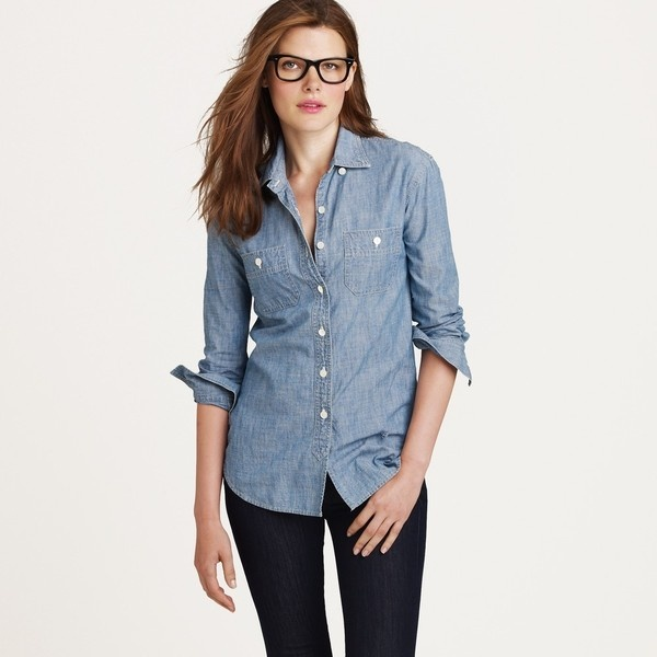 Chambray shirt and black jeans